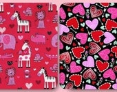 Gorgeous Valentines Hearts or Animals in Zoo Fabric--Stunning -- 40-70% off Patterns n Books SALE
