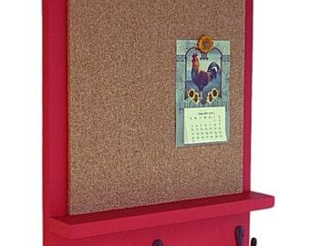 Cork Board - Bulletin Board - Message Board - Key Hooks - Key Holder - Key Hanger