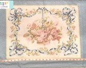 Vintage Placed Floral with Bow Pillowcase