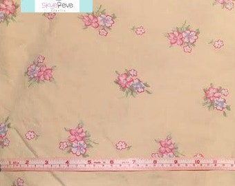 Twin Vintage Fitted Yellow Sheet with Pink Floral