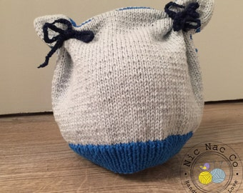 Bonnet spring cotton blue and white baby (18-24 months)