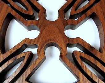 Celtic Cross / Wall Hanging / Walnut Wood