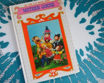 Vintage Puppet Storybook with Lenticular Cover - Mother Goose