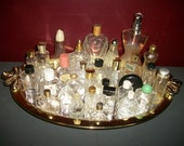 Large Lot Vintage Mini Perfume Bottles Cologne Glass