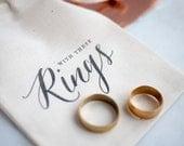 Rustc Wedding Ring Bearer Bag, ring pillow alternative