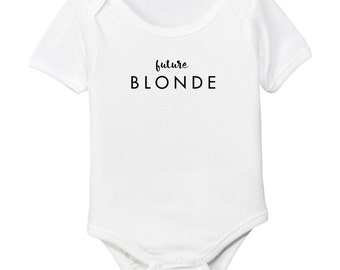 Future Blonde Blondie Organic Cotton Baby Girl Bodysuit