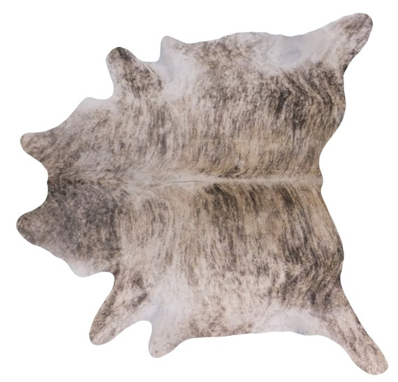 Brazilian Cowhide Fur Rug Extra Large Exotic Light Brindle
