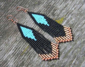 Copper Fringe Earrings