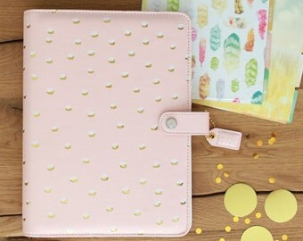 PREORDER Blush & Gold Dots Webster's Pages Color Crush A5 BINDER ONLY • Free Washi Tape with this order