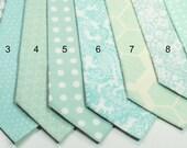 Mint Necktie Wedding Neckties Mint Neckties Mens Neckties Custom Neckties Mens Neckties