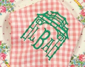 Mini pink gingham monogram napkins