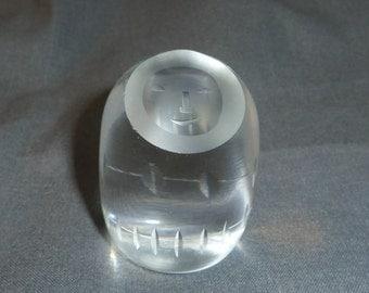 """Hadeland Glassverk Norway Crystal Paperweight Eskimo 6 cm (2.5"""")"""