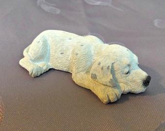 Sandicast Dog Figurine Dalmation S43 Domino Handpainted S. Brue 1988