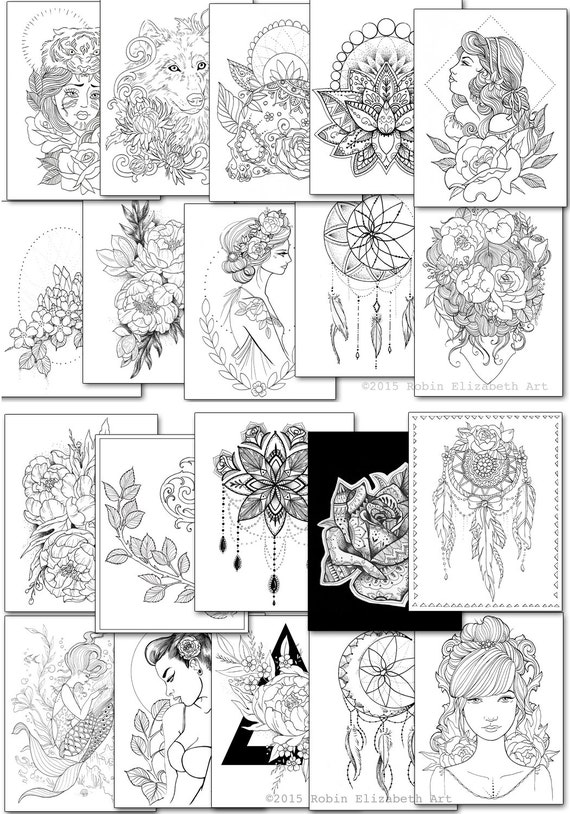 adult coloring book floral tattoo gold foil cover 44 pages on thick paper beautiful gift under 50 artist quality tattoo sketchbook - Tattoo Coloring Book Pdf
