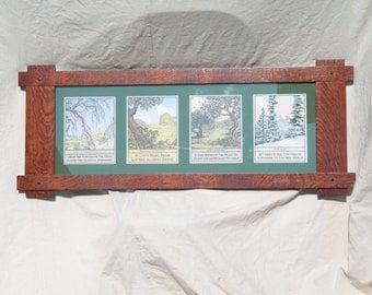Arts & Crafts Quarter sawn Oak Frame with 4 seasons prints