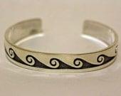 Hopi Silver Bracelet Waves Mitchell Sockyma