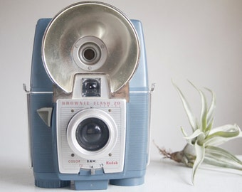 Rare Camera, Working Brownie Flash 20, In Blue, Rare Color, Camera for Collectors, Gift Under 50