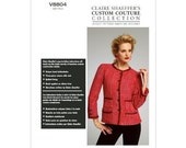 Vogue Pattern 8804 - Claire Shaeffer Couture Collection Sewing Pattern - Chanel Style Jacket - OOP