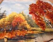Genuine Amber painting still life nature