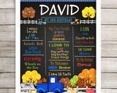 "Print Your Own Birthday Poster, 8"" x 10"", 11"" x 14"", 16"" x 20"", Pickup Truck, Farm Animals, Chalkboard Birthday Sign, JPG, Any Age"