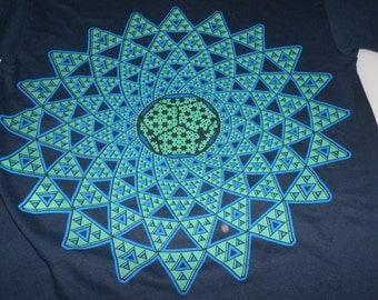 T-Shirt - Infinite Possibilities (Green/Blue on Navy)