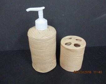 Stoneware Soap or Lotion Dispenser