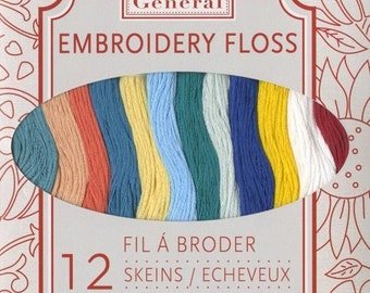 French General Embroidery Floss Summer La Mer 12 Thread Skein Set