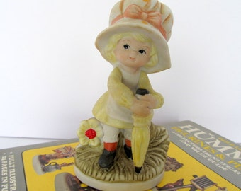 Vintage Girl With Bonnet Figurine