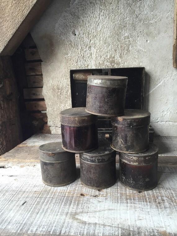 Primitive kitchen Spice tin , Rustic, Antique,
