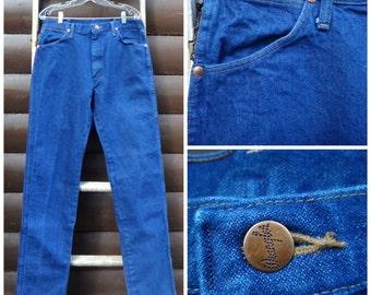 1980's, men's Wrangler jeans, extra long