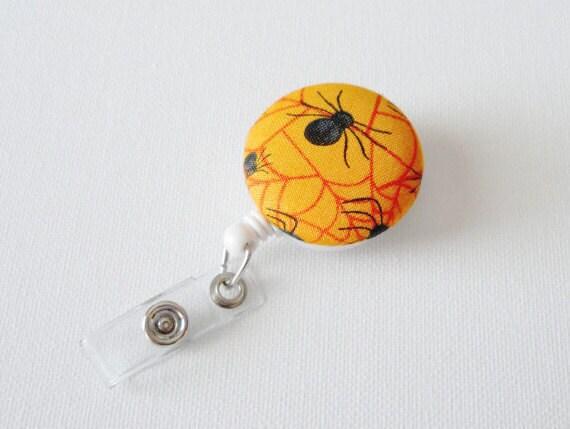 Spider - Retractable ID Badge Reel - Nursing Badge - Name Badge Holder - Nurse Badge Reel - Teacher Badge Clip