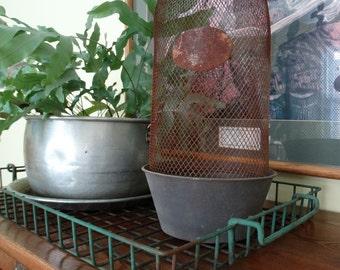 Vintage Inspired Wire Metal Cloche Set / Fleur de Lis