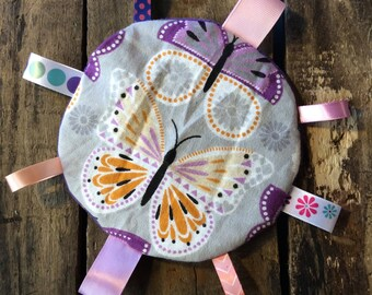Butterfly Sensory Tag Crinkle Toy for Baby