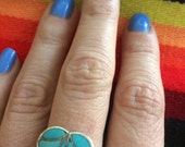 Sterling Silver Inlay Heart Turquoise Ring