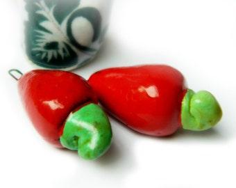 Fruit Charm - Cashew Nut Fruit / Handmade Guatemala - size small