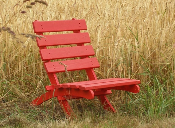 Red Cedar Chair for Home & Garden Fall Decor - handcrafted by Laughing Creek