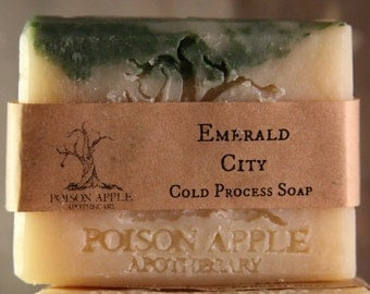 SOAP, Cold Process, Emerald City, Poison Apple Apothecary