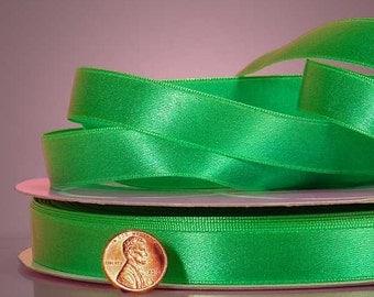 "1/4"" Satin Ribbon - Emerald Green"