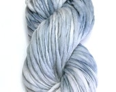 Handspun super chunky yarn, 100 yards and 5.75 ounces/ 164 grams spun thick and thin in merino wool