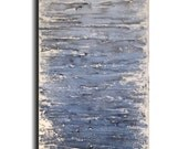 Original Large Abstract painting - 18 X 36- FREE US SHIPPING by Artist JMJartstudio- Forbidden -Wall art- Blue painting-XXl painting