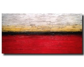 Large Original painting - 24 X 48  JMJartstudio- Within reach -Wall art-wall decor - red painting-Oil painting