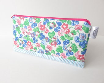 Limited Edition Hello Kitty Liberty Lawn fabric zippered pencil case