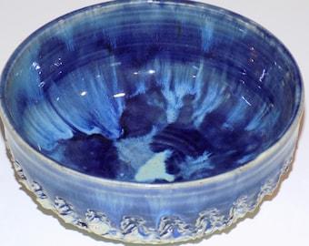 Pottery Bowl, Blue and Green, Ceramic Bowl, Small Fruit Bowls, Handmade Bowl, Ceramics and Pottery