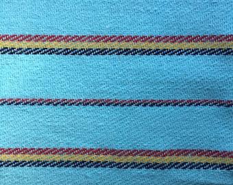 Ethnic Mexican Jerga Fabric Blue