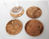 New York Coasters - custom location & engraving (optional)