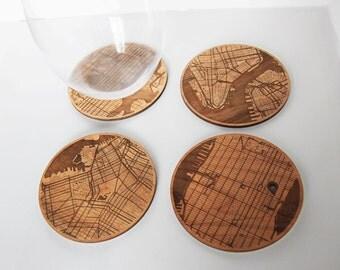 New York Coasters - custom location & engraving (optional)