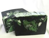 Black Irish Artisan Soap - Handmade Soap, Cocoa Butter Soap, Silk Soap