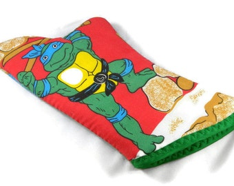Teenage Mutant Ninja Turtle Inspired Reclaimed Fabric Oven Mitt