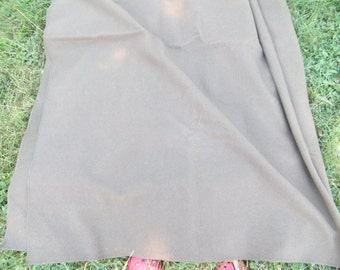 Vintage Green Wool Army Blanket • Vintage Military Bedding • Vintage Wool Olive Green Blanket  58 x 84