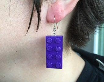 2x4 Lego Brick Earrings